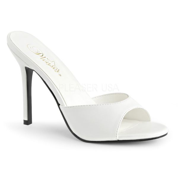 CLASSIQUE-01  Weisse High Heel Pantolette